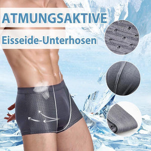 Men's breathable ice silk briefs honeycomb ventilation design-3PCS