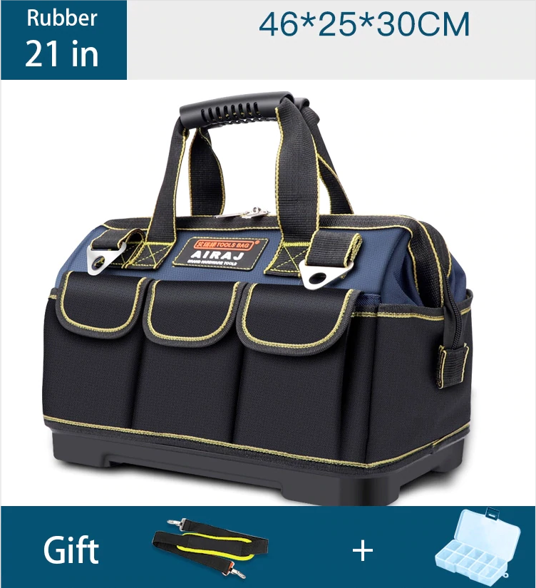 Upgrade Tool Bag 13/17/19/21 Inch Large Capacity Oxford Waterproof Wear-Resistant Electrician Storage Bag