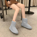 Load image into Gallery viewer, Sheep Fur Rhinestone Full Diamond Waterproof Shoes Boots