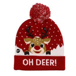 {50% Off Today!}Christmas LED Beanies