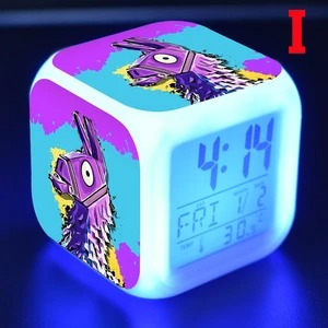 LED luminous alarm clock, 7 colors change