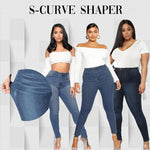 Load image into Gallery viewer, Margot Perfect Fit Skinny Stretch Pull-On Push-Up Plus-Size Denim Jeans Leggings