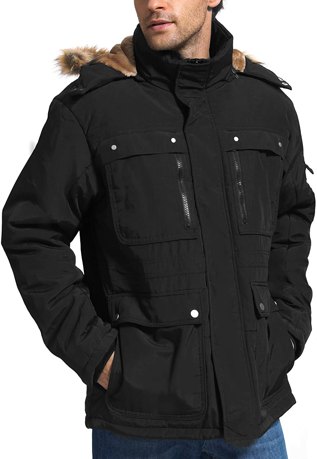 Snow Mountain Hooded Parka Jackets
