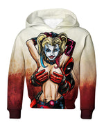 Load image into Gallery viewer, Harley Loves Deadpool Hoodie & T Shirt