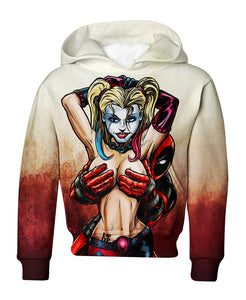 Harley Loves Deadpool Hoodie & T Shirt