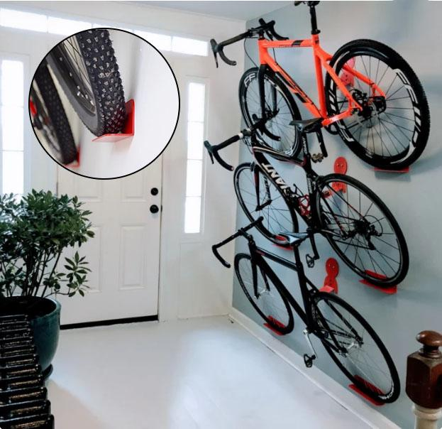 Bicycle rack wall metal hook bicycle mountain bike wall bracket road bike wall rack