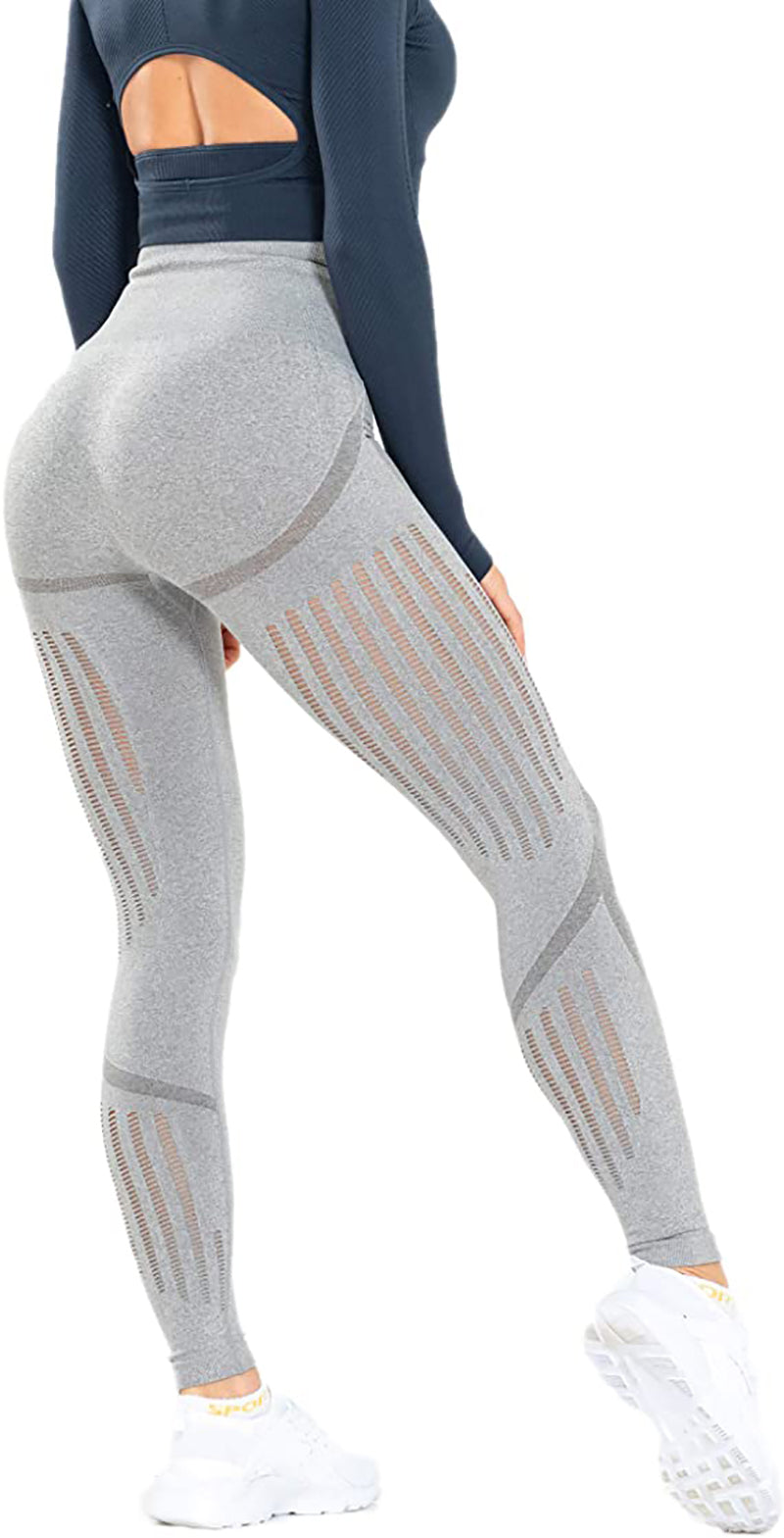 Women's High Waist Seamless Leggings Ankle Yoga Pants Squat Proof Tights