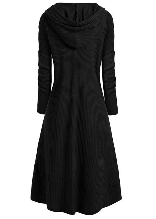 Hooded High Low Drop Shoulder Longline Sweater