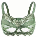 Load image into Gallery viewer, Women's Big Size Full Coverage Floral Embrodiery Ultra-thin Bra Lingerie