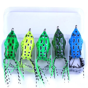 5pcs/Box Frog Fishing Lures Double Hooks