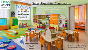 Classroom air purifiers and sanitizing products