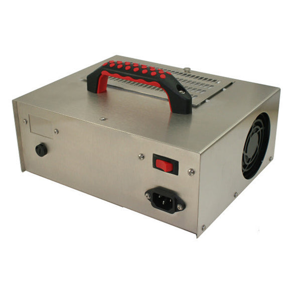 Jenesco FM-1 ozone generator, supplied by Canadian supplier CleanWorld, from a right-frontal view.