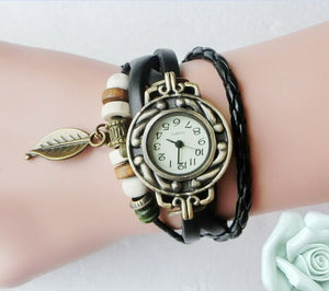 High Quality Women Genuine Leather Vintage Watch