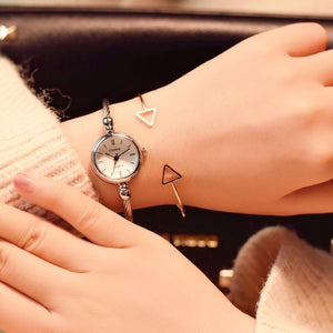 Small Gold Bangle Bracelet Luxury Watches Ladies  Wristwatches Fashion
