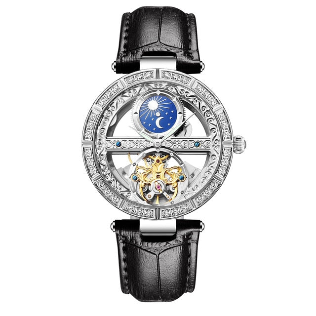 Ladies Clock Luxury Fashion  Mechanical Watches Waterproof