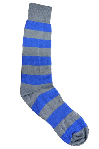 Dead Soxy Grey and Blue Striped Socks