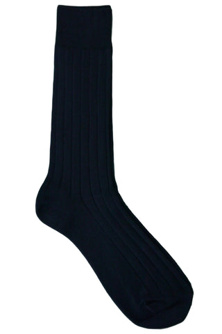 Florsheim Basic Solid Navy Socks