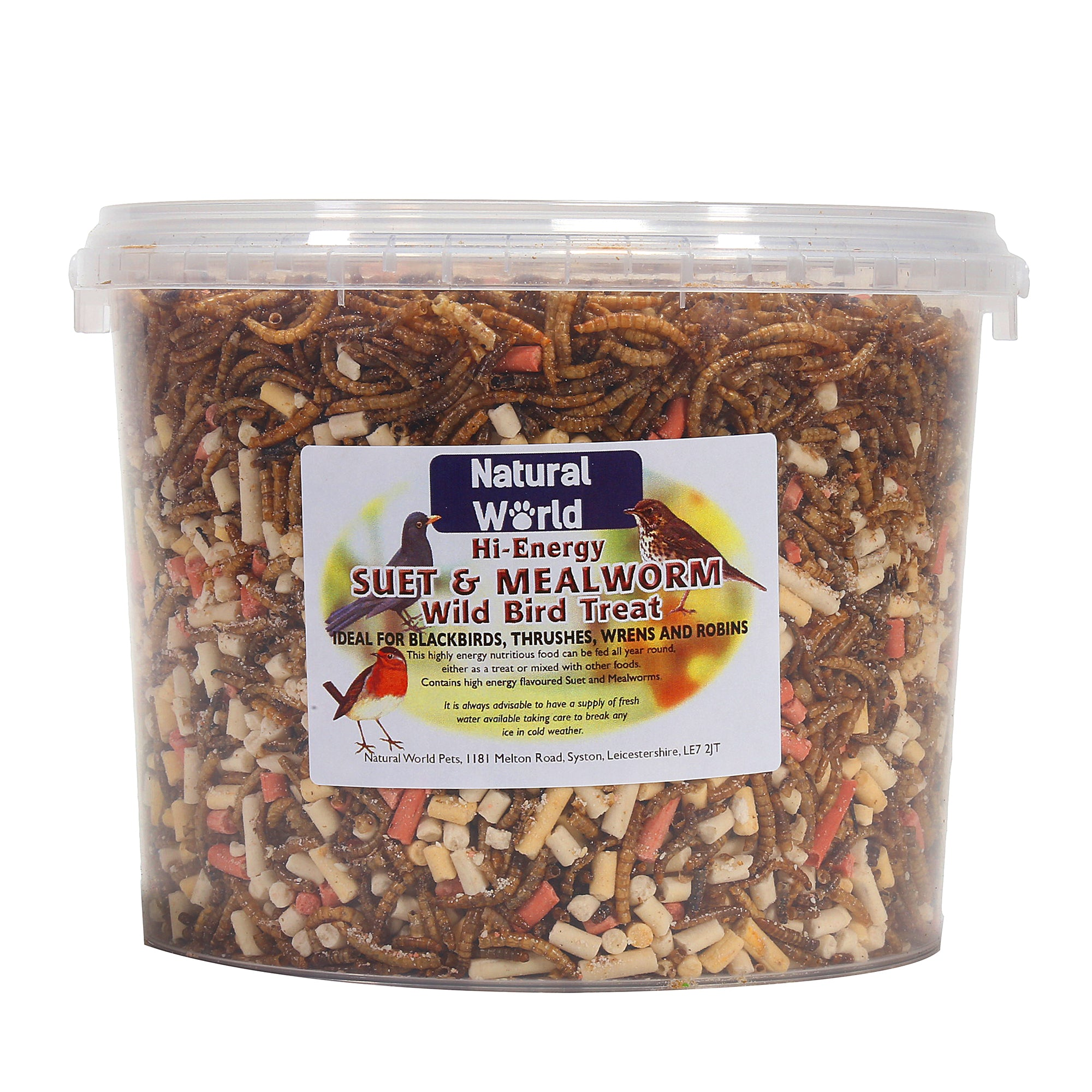 Natural World Mixed Suet And Mealworm Treat