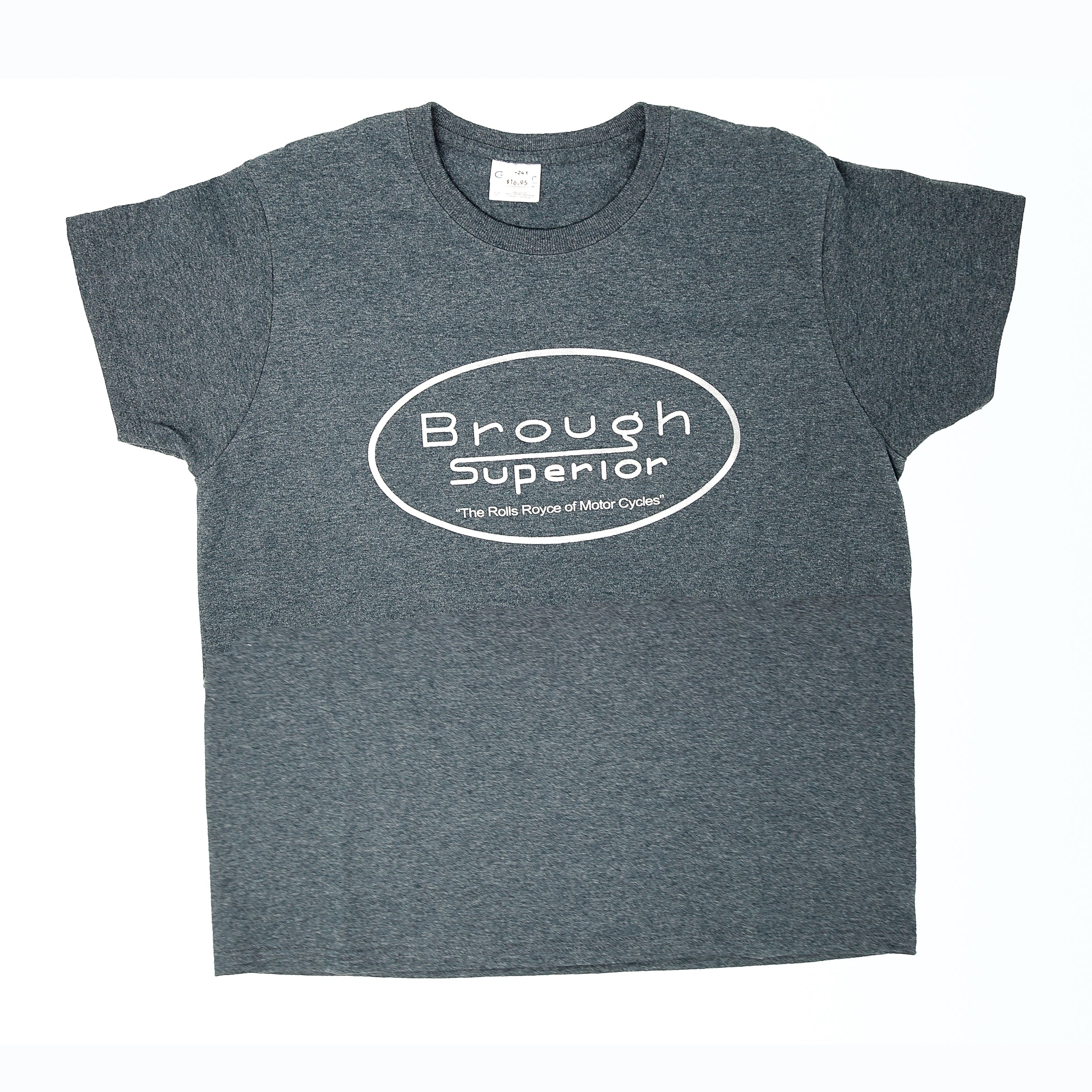 "Dreamcycle Motorcycle Museum |  ""Brough Superior"" Tshirt on white background."