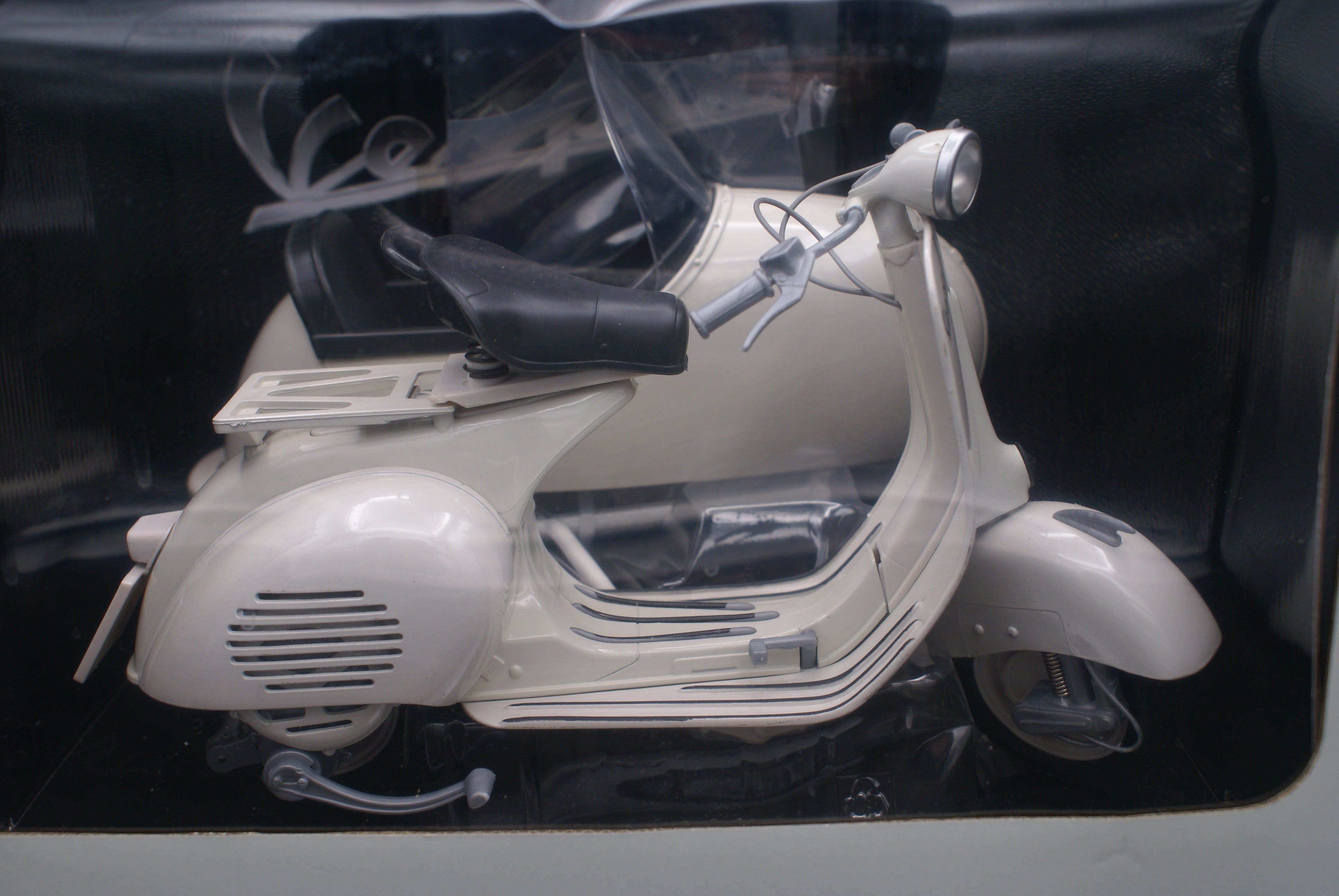 Vespa with sidecar model