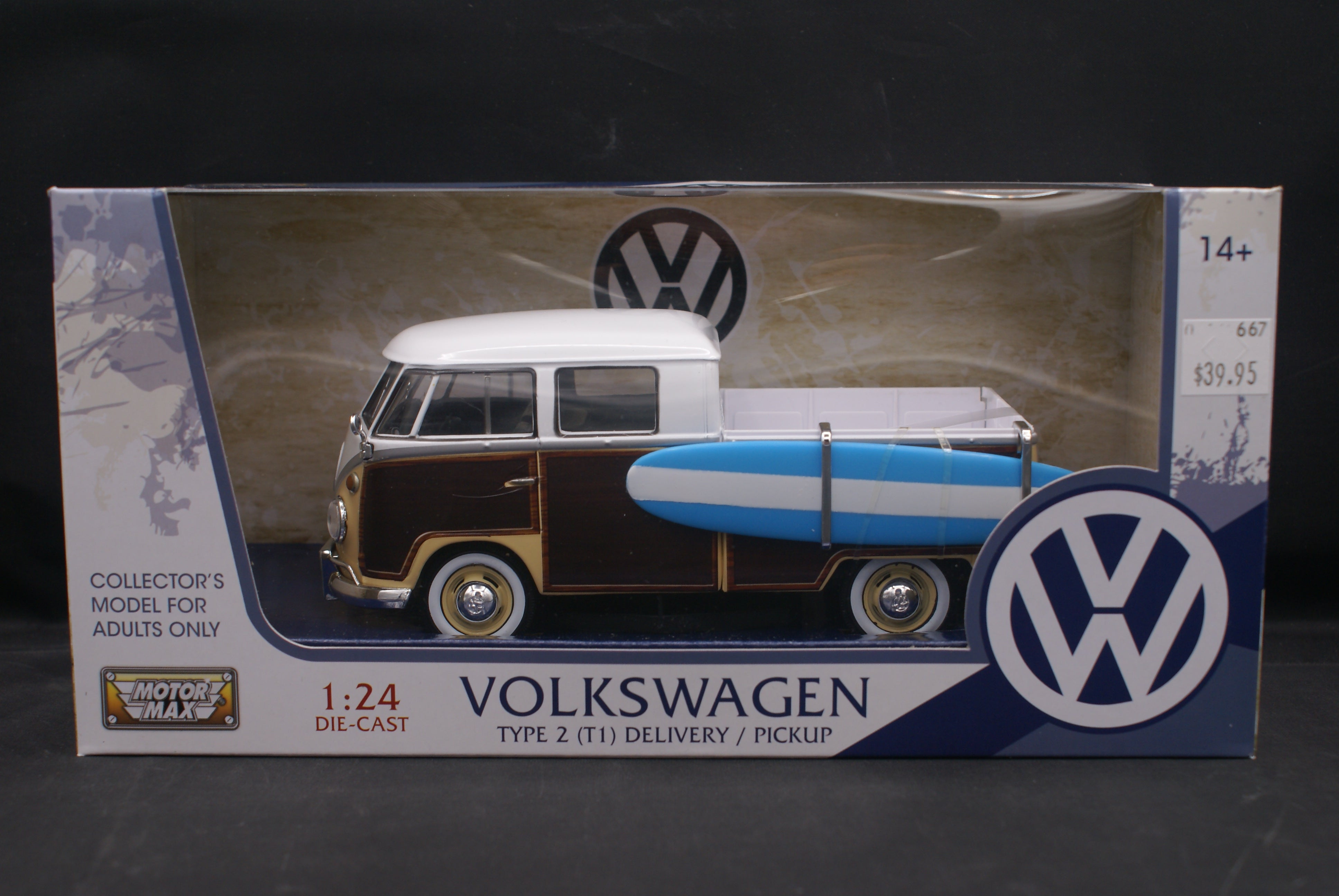 Volkswagen Pickup with Surfboard