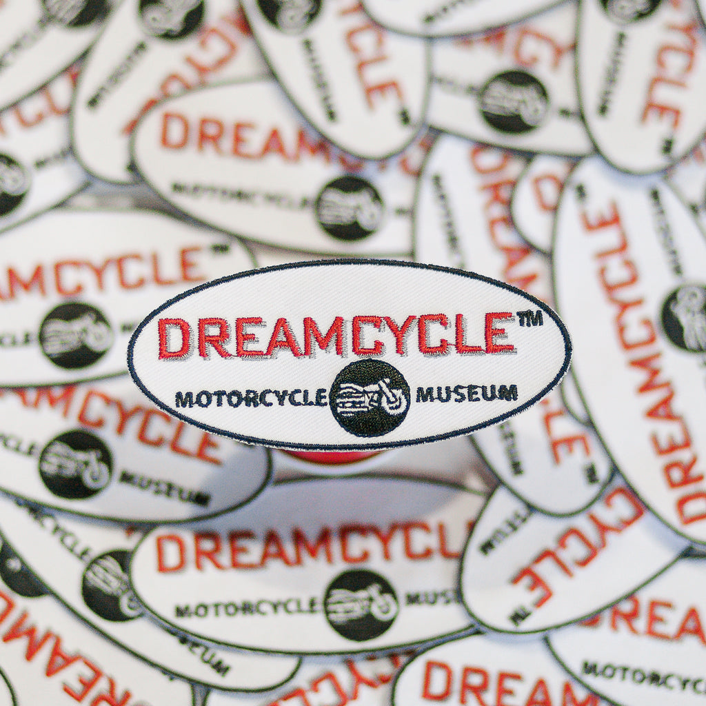 Dreamcycle Motorcycle Museum |  Dreamcycle Patch surrounded by other patches.