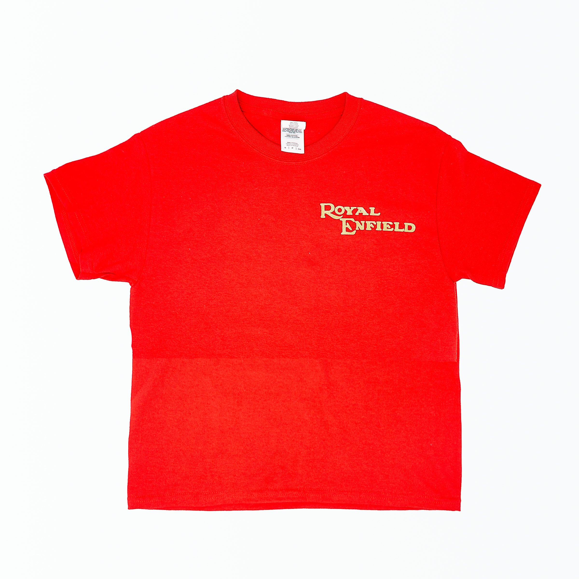 Dreamcycle Motorcycle Museum | Royal Enfield Tshirt on white background.