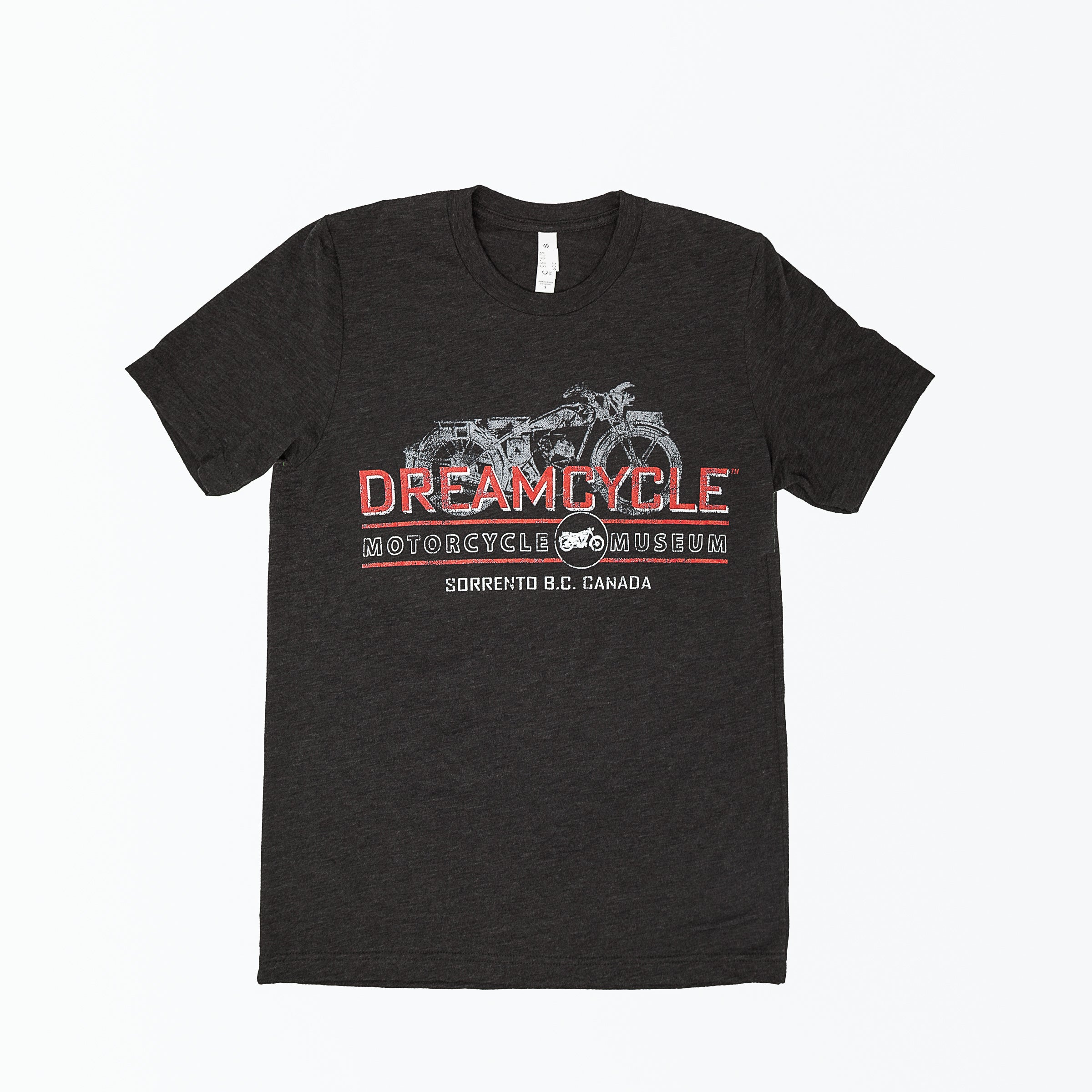 Dreamcycle Motorcycle Museum | Dreamchycle tshirt with motorcycle on white background
