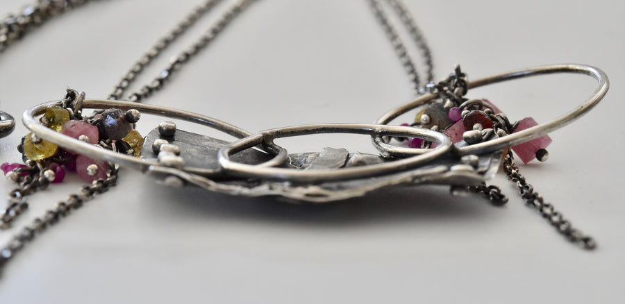 Abstract sterling silver necklace