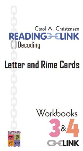 Decoding Letter & Rime Cards Workbooks 3-4 9781741620337