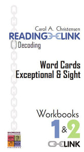 Decoding Word Cards Exceptional and Sight Workbooks 1-2 9781741620344