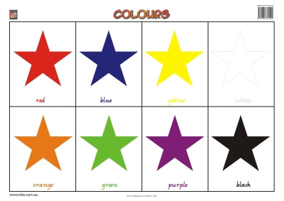 Colours Wallchart (Prep) 9781741621402