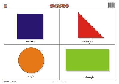 Shapes Wallchart (Prep) 9781741621419