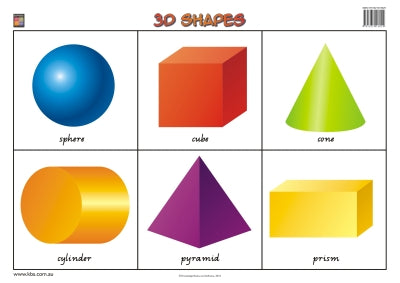 3D Shapes Wallchart (Prep) 9781875219124