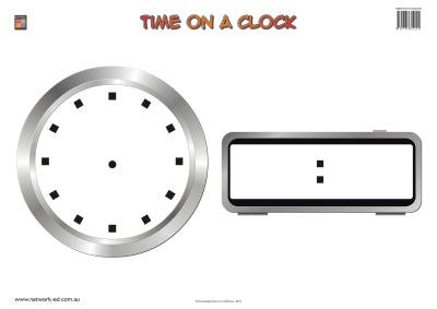 Time on a Clock Wallchart (Prep) 9781875219131