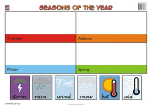 Seasons of the Year Wallchart (Prep) 9781920696535
