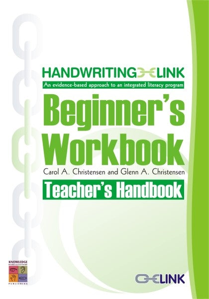 Handwriting LINK Beginner's Workbook Teacher Guide 9781921016042