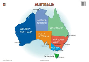 Map of Australia Wallchart (Grade 2) 9781921016509