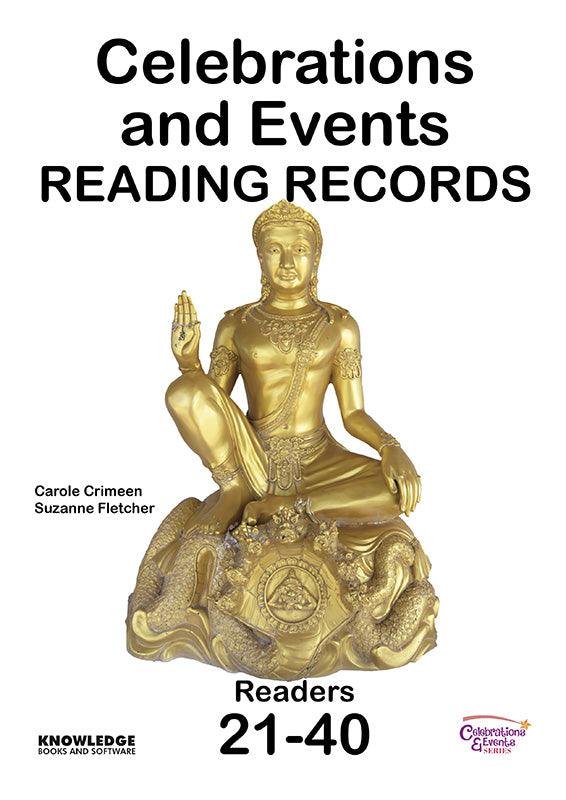 Celebrations and Events Set 2 Reading Records 9781922370792