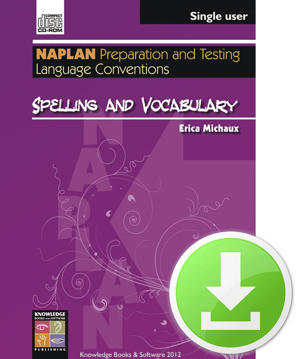 Spelling and Vocabulary (Downloadable File)