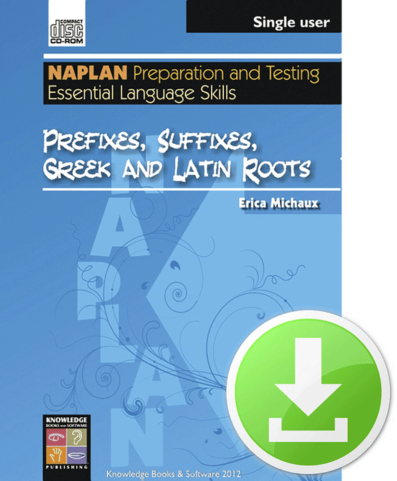 Prefixes, Suffixes, Greek and Latin Roots (Downloadable File)