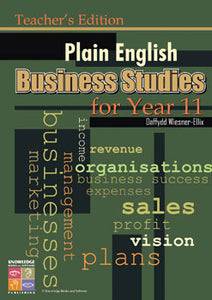 Plain English Business Studies for Year 11: Teacher's Edition 9781921016349