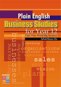 Plain English Business Studies for Year 12 9781741621990