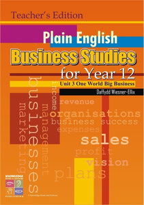 Plain English Business Studies for Year 12: Teacher's Edition 9781741620139