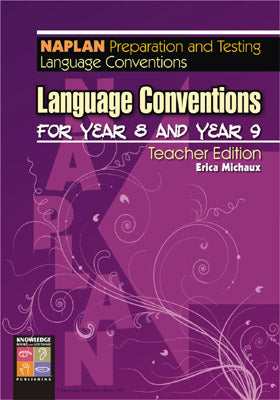 Language Conventions for Year 8 and Year 9: NAPLAN Teacher Edition 9781920696818