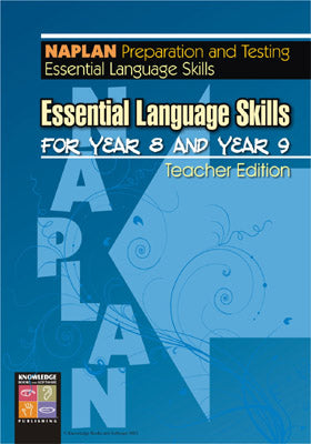 Essential Language Skills for Year 8 and Year 9: NAPLAN Teacher Edition 9781920696481