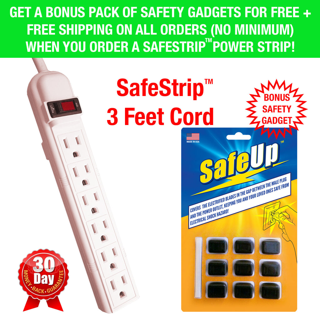 6 Outlet Power Strip by SafeUp™ (3ft Cord)