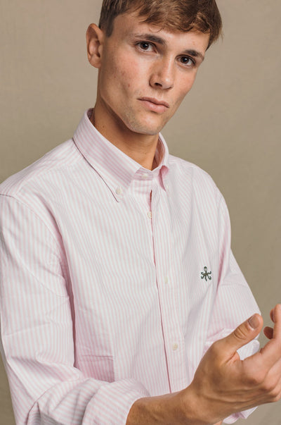 CAMISA OXFORD RAYA ROSA BUTTON DOWN - Harrys 1982