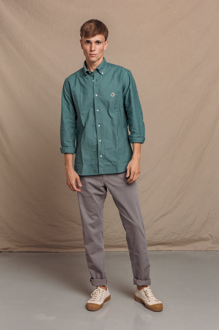 CAMISA OXFORD VERDE BUTTON DOWN - Harrys 1982