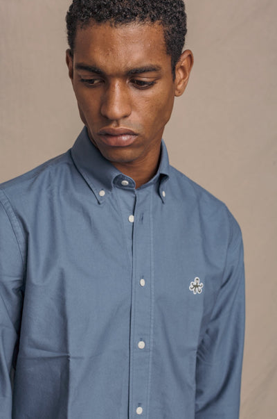 {{ tipo de producto }} CAMISA OXFORD INDIGO BUTTON DOWN - Harrys 1982